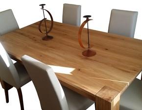 tavolo in rovere nodato allungabile