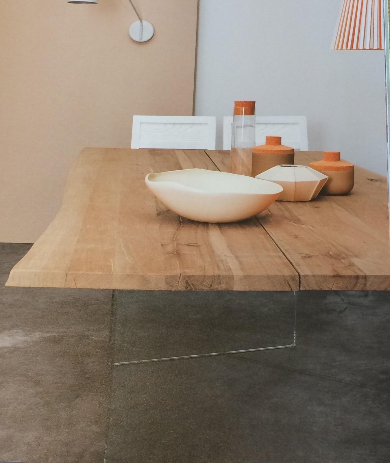 Tavolo in rovere grezzo modello twins tavoli a prezzi - Tavolo legno grezzo allungabile ...