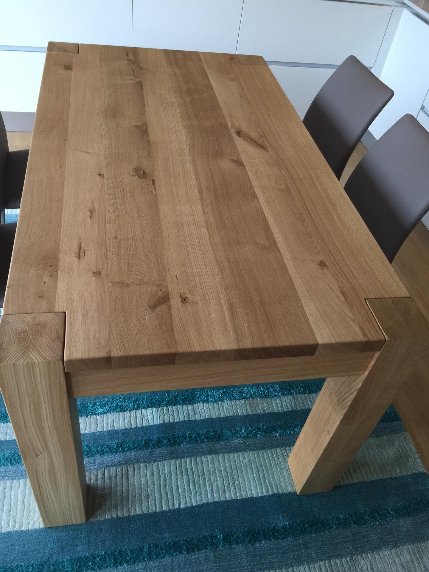 Tavolo in rovere massello 160x90 allungabile 260 tavoli a prezzi scontati - Tavolo legno massello ...