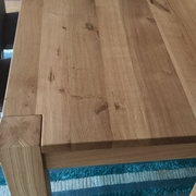 tavolo artigianale in legno rovere massello