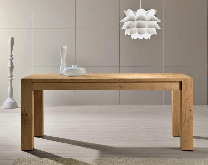 Tavolo rovere naturale scontato del 51 tavoli a for Tavoli in legno moderni allungabili