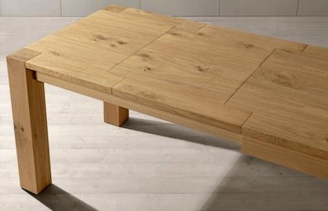 Tavolo rovere naturale scontato del 51 tavoli a for Tavolo allungabile rovere