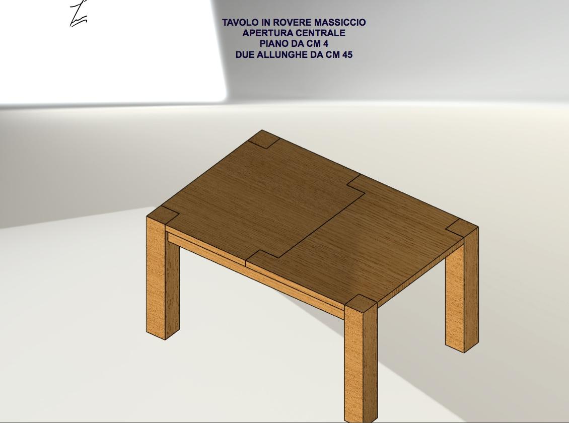 Tavolo dali rettangolari allungabili legno tavoli a for Tavoli rettangolari allungabili in legno