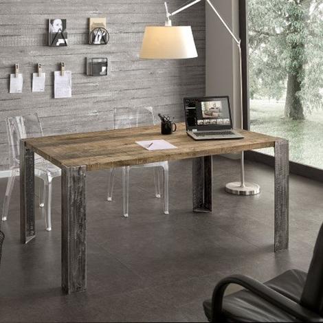 Tavolo da cucina in rovere gambe in metallo tavoli a - Gambe in ferro per tavoli ...