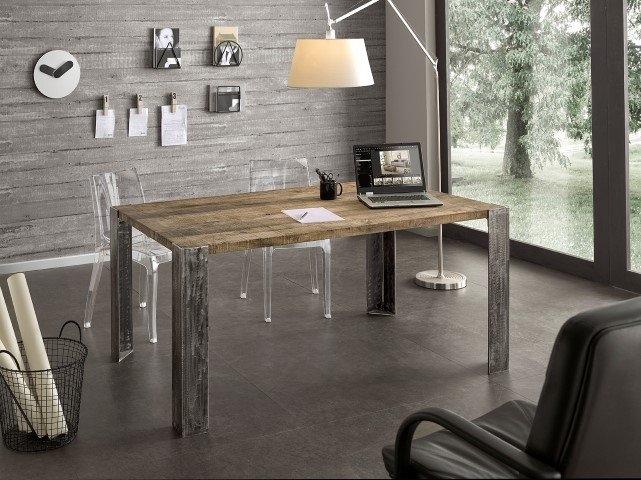 Tavolo da cucina in rovere gambe in metallo tavoli a - Mobili in rovere naturale ...