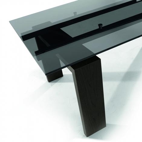 Tavolo in vetro allungabile tonin casa tavoli a prezzi for Tavolo allungabile vetro trasparente