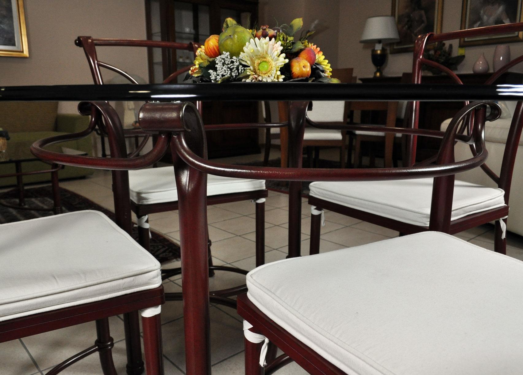 Sedie per tavolo in vetro trendy tavolo da cucina tavolo - Tavoli da pranzo ferro battuto e vetro ...