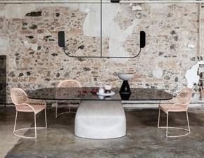Tavolo in vetro ellittico Gran sasso * Midj in offerta outlet
