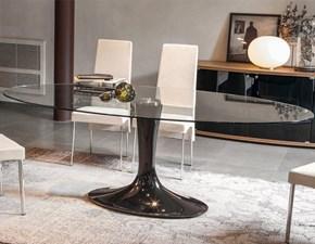 Tavolo in vetro ellittico Imperial * Tonin casa a prezzo ribassato