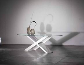 Tavolo in vetro ellittico Nature design tavolo x  Nature design in offerta outlet
