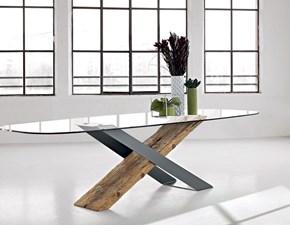 Tavolo in vetro ellittico Naturedesign mod x small ellisse Nature design in offerta outlet