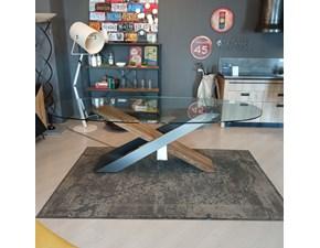 Tavolo in vetro ellittico X Nature design a prezzo scontato