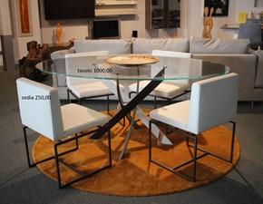 Tavolo in vetro ovale Barone Bontempi casa a prezzo ribassato