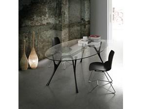 Tavolo in vetro ovale Pegaso Caimi a prezzo scontato