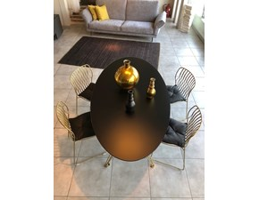 Tavolo in vetro ovale Sander Bontempi casa a prezzo scontato