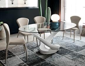 Tavolo in vetro ovale Tango Target point a prezzo ribassato