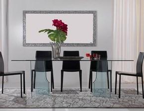 Tavolo in vetro ovale Tavolo ovale mod.adelchi in cristallo in promo-sconto del 45% Artigianale a prezzo scontato