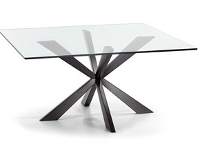 Tavolo in vetro quadrato Spyder Cattelan in offerta outlet