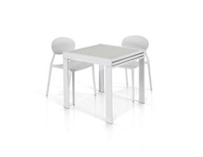 Tavolo in vetro quadrato Tempor 941/2 Artigianale in offerta outlet