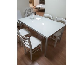 Tavolo in vetro rettangolare Alluminio Flai in offerta outlet
