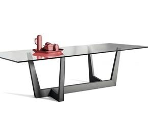 Tavolo in vetro rettangolare Art Bonaldo a prezzo scontato