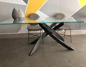 Tavolo in vetro rettangolare Artistico Bontempi casa in Offerta Outlet