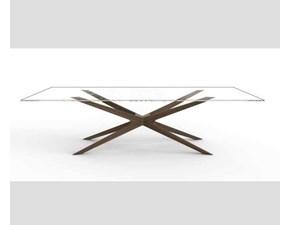 Tavolo in vetro rettangolare Blade glass Mottes selection in offerta outlet