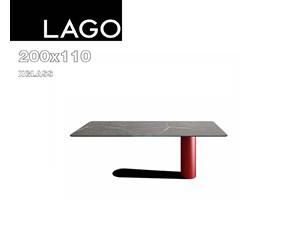 Tavolo in vetro rettangolare Bold xglass Lago a prezzo scontato