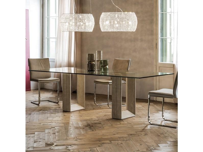 Tavolo in vetro rettangolare diapason cattelan a prezzo for La forma tavoli