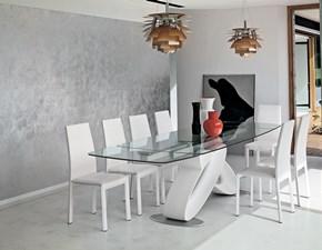 Tavolo in vetro rettangolare Eclips  mottes mobili Artigianale a prezzo scontato