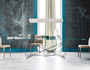 Tavolo in vetro rettangolare Gordon Cattelan in Offerta Outlet
