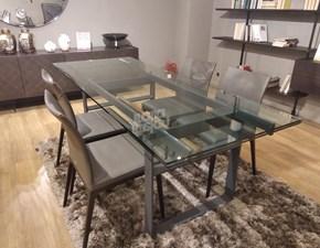 Tavolo in vetro rettangolare Jerry Cattelan italia a prezzo ribassato