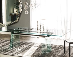 Tavolo in vetro rettangolare Klirr Cattelan in Offerta Outlet