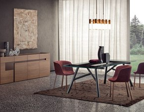 Tavolo in vetro rettangolare Maestro Pianca in offerta outlet