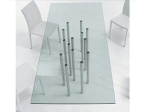 Tavolo in vetro rettangolare Mille Bonaldo a prezzo ribassato