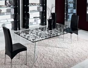 Tavolo in vetro rettangolare Millefiori Unico italia in offerta outlet