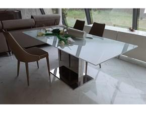 Tavolo in vetro rettangolare Oasi Bontempi casa a prezzo ribassato
