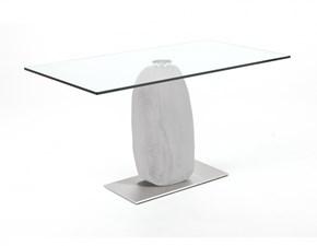 Tavolo in vetro rettangolare Obelisco Cattelan a prezzo ribassato