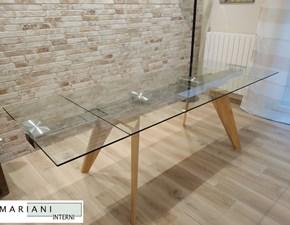 Tavolo in vetro rettangolare Origami La seggiola in offerta outlet