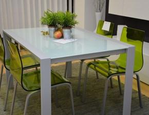 Tavolo in vetro rettangolare Over Eurosedia in Offerta Outlet