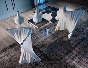 Tavolo in vetro rettangolare Plisset Cattelan in Offerta Outlet