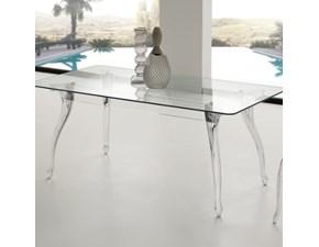 Tavolo in vetro rettangolare Regina Table di La Seggiola in Offerta Outlet