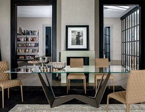 Tavolo in vetro rettangolare Reverse  glass Tonin casa in offerta outlet