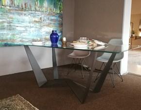 Tavolo in vetro rettangolare Reverse Tonin casa a prezzo ribassato