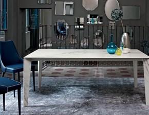 Tavolo in vetro rettangolare Senso Bontempi casa a prezzo ribassato