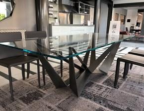 Tavolo in vetro rettangolare Skorpio Cattelan a prezzo ribassato