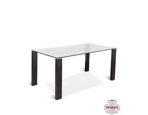 tavolo in vetro rettangolare Slash Stones in Offerta Outlet