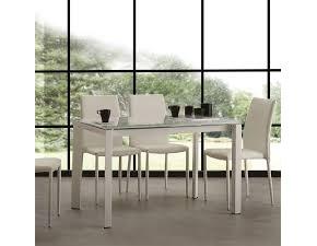 Tavolo in vetro rettangolare Tavolo omni extrawhite bianco La seggiola in offerta outlet