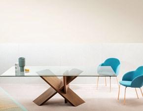 Tavolo in vetro rettangolare Tripode Miniforms a prezzo scontato