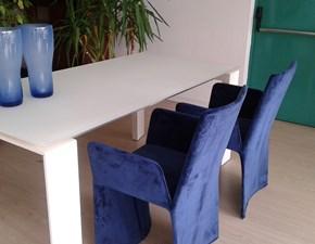 Tavolo in vetro rettangolare Twice di Bonaldo in Offerta Outlet